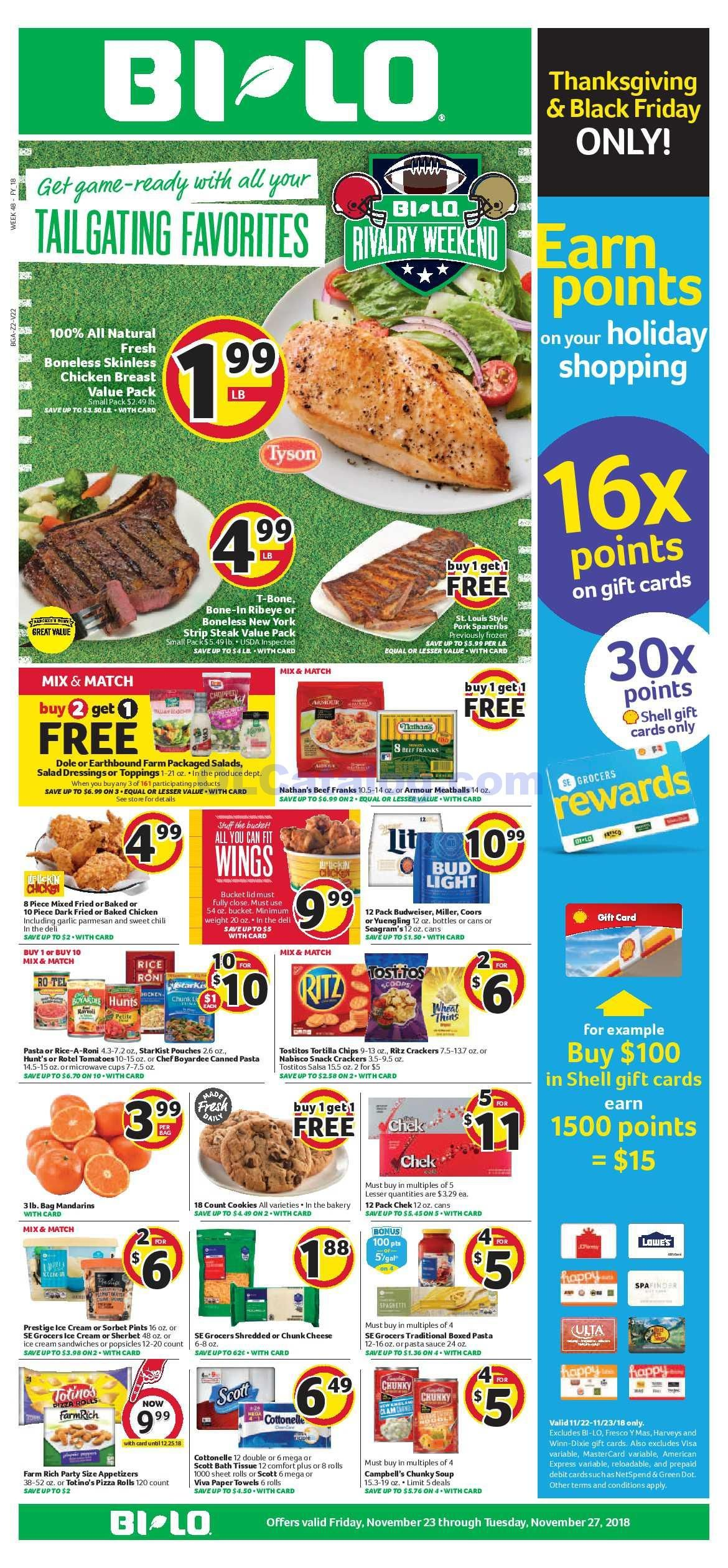 Bilo Weekly Ad November 23 27 2018 View The Latest Flyer And