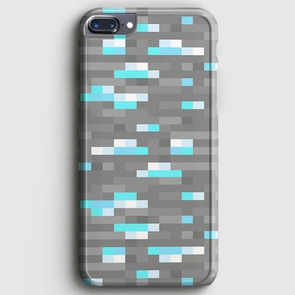 Minecraft Inspired Ore Diamond Iphone 8 Plus Case Casescraft