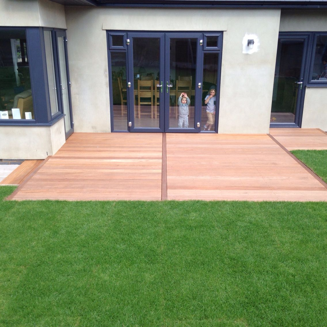 Image Result For Backyard Lawn And Deck