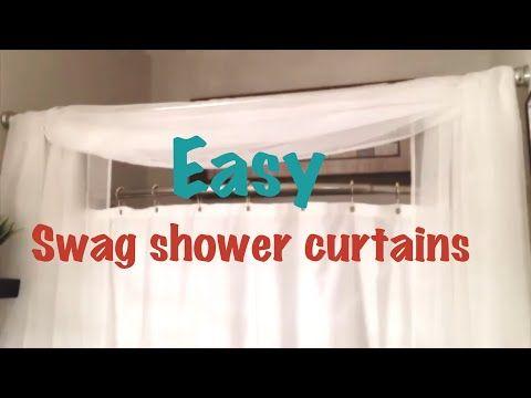 Diy Swag Shower Curtain Youtube Diy Swag Curtains Swag Curtains