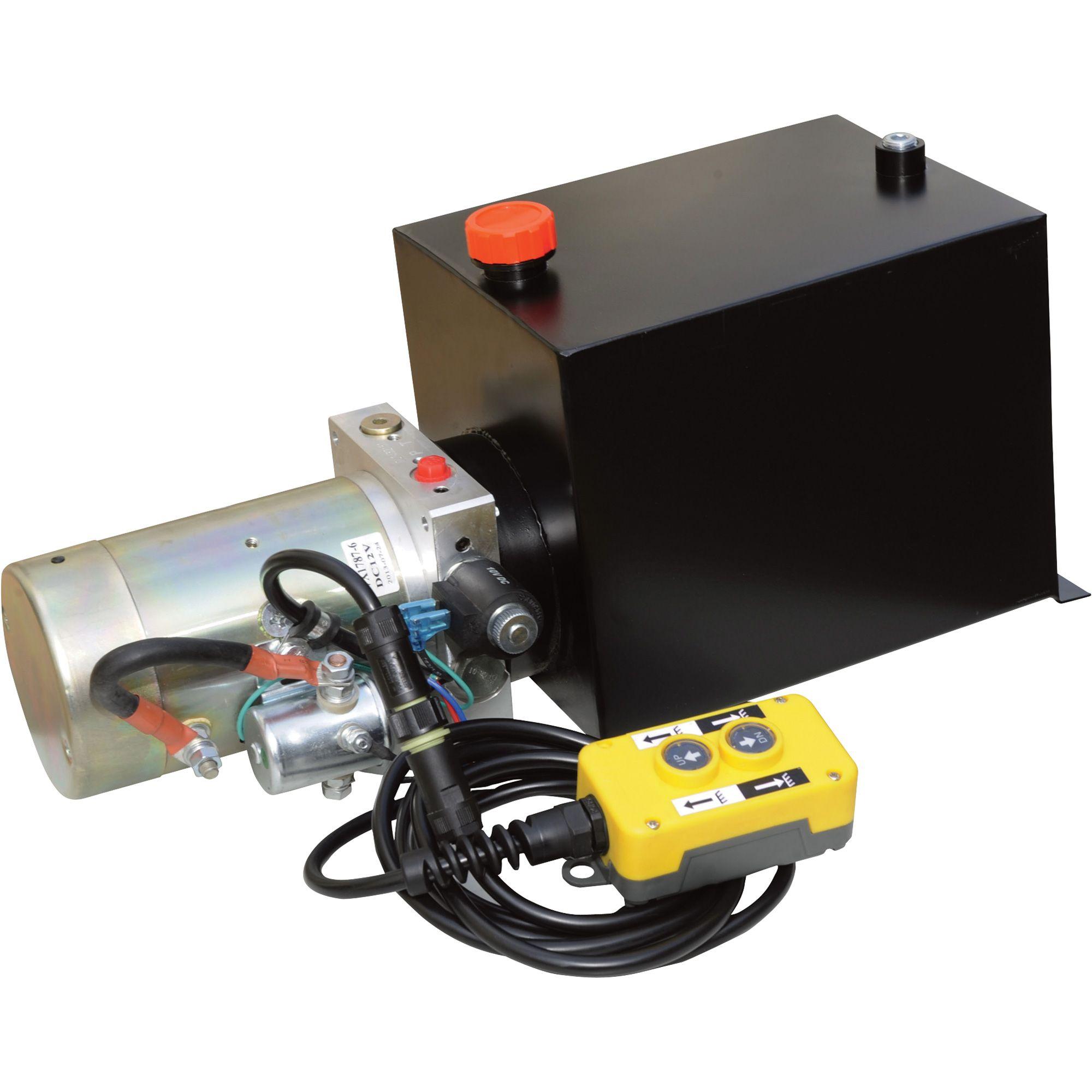 12 Volt Hydraulic Pump Wiring Diagram 2002 Toyota Camry Parts Nortrac Dc Power Unit Single Acting Dump Trailer