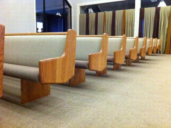 How Much Foam Is Too Much For Church Pews Born Again Pews Church Furniture Church Interior Church Pew