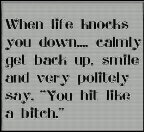 when life knocks you down quotes