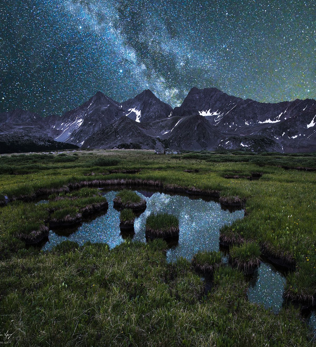 Honeymoon Destinations Rocky Mountains: Milky Way Over The 3 Apostles, Collegiate Peaks Wilderness