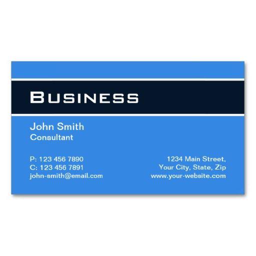 Professional plain elegant modern blue simple business card professional plain elegant modern blue simple business card templates reheart Choice Image