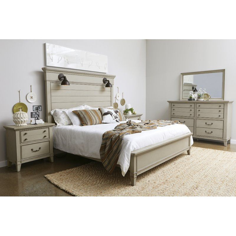 Rustic Taupe 4 Piece King Bedroom Set - Sausalito | King ...