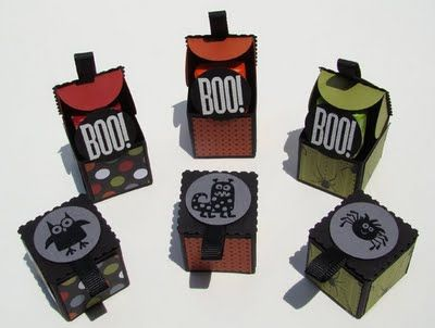 Cute Little Boxes Using The Petal Card Punch Halloween Pinterest - Cosas-para-halloween-manuales