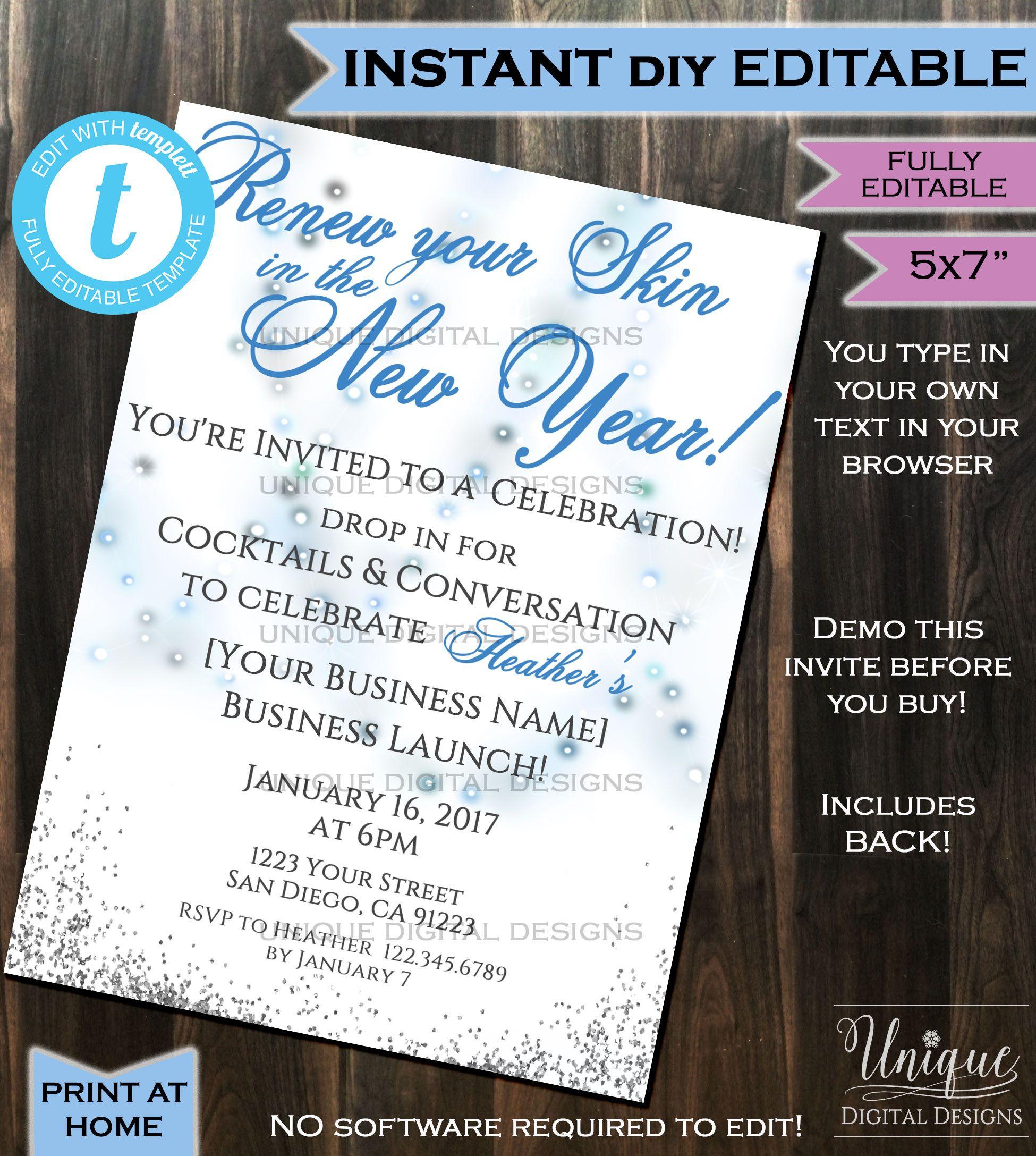Rodan Fields Invitation Business Launch Party BBL Invite RF Fine