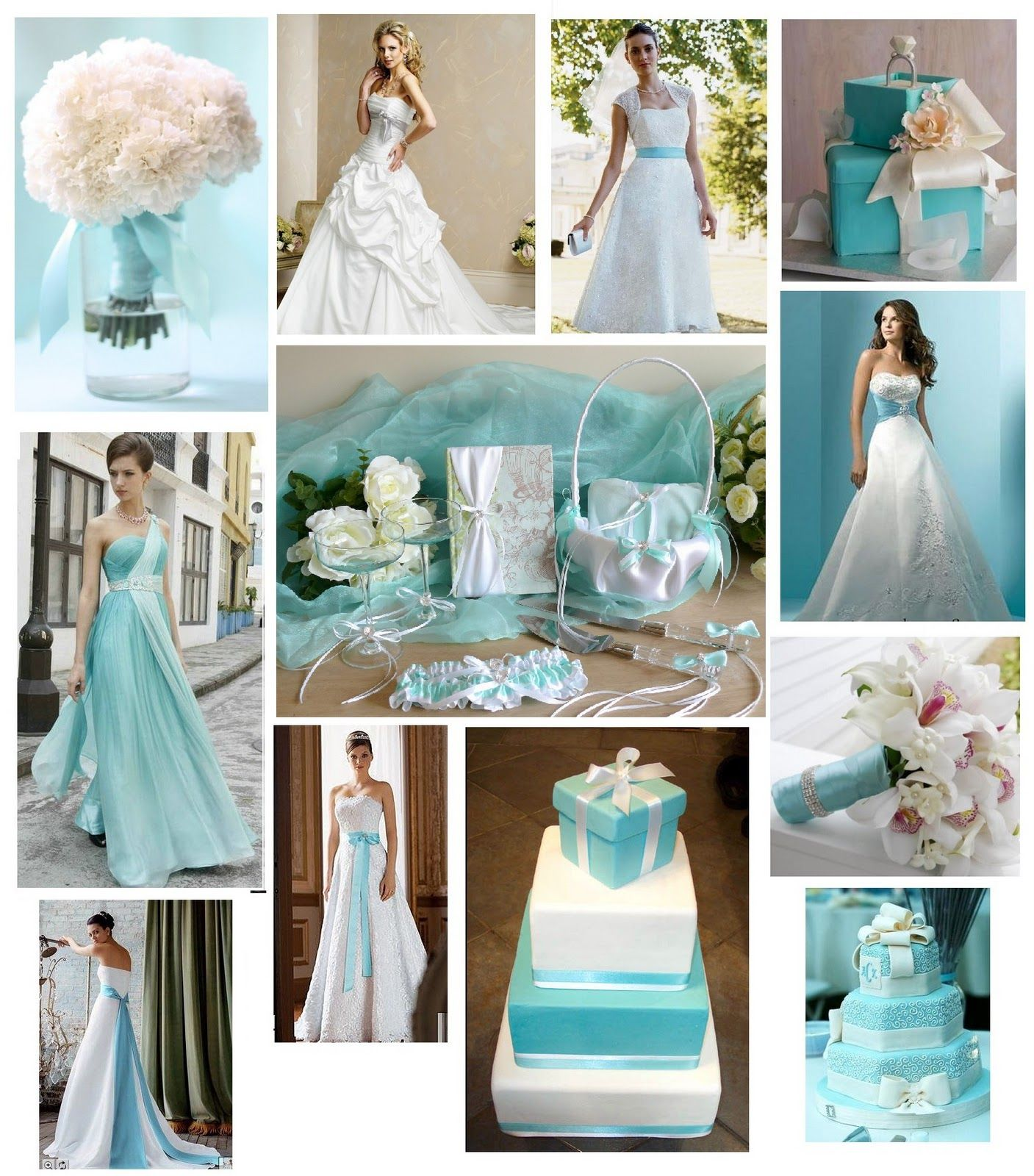 Turquoise Wedding Dresses And Venue Ideas
