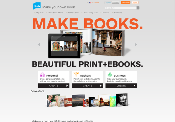 Blurb.com - This website gives you all the tools you need to create your own books and ebooks!