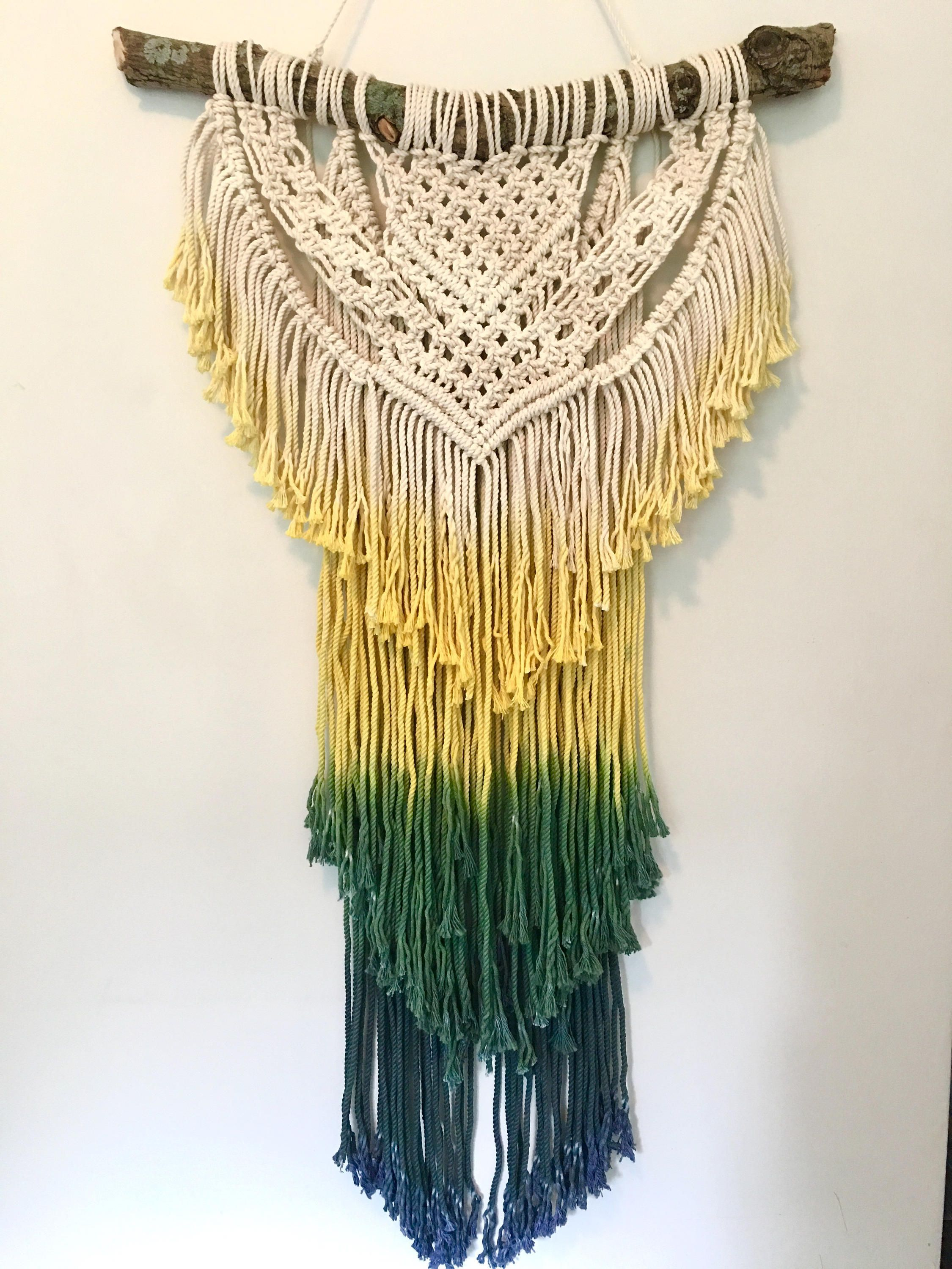 Wall Hanging Macrame Wall Hanging Boho Decor Jungalow Hippie Decor ...
