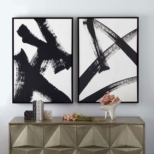 framed prints abstract ink brush client colombini pinterest
