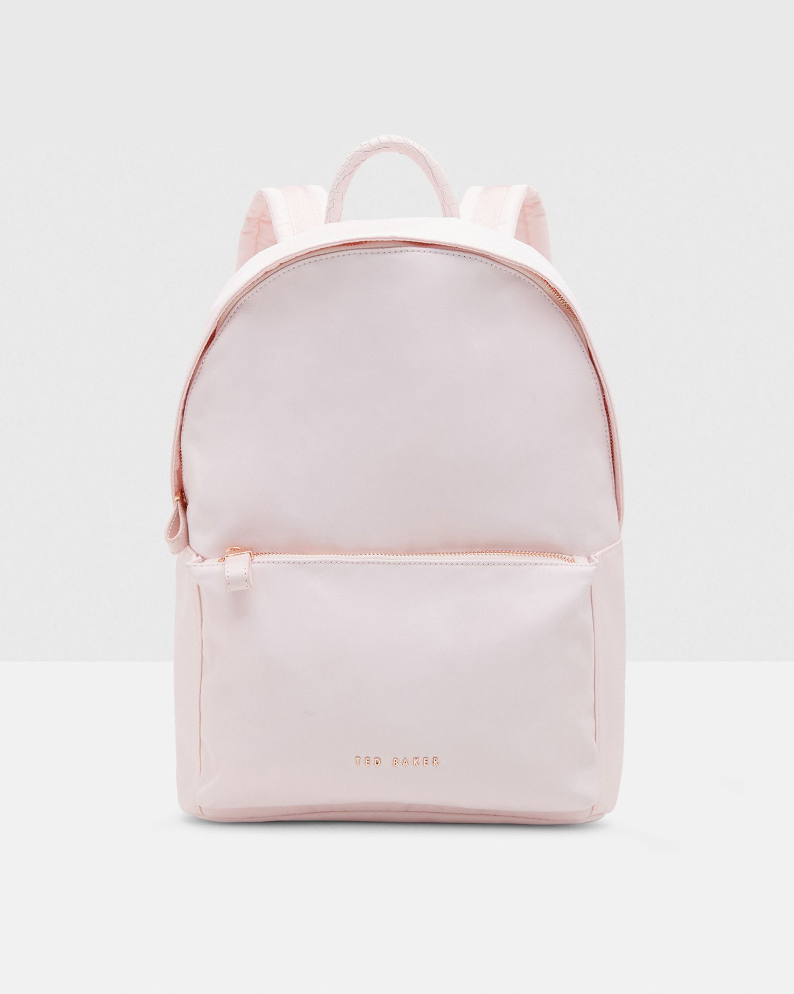 cb5e138a92 Textured trim backpack - Baby Pink