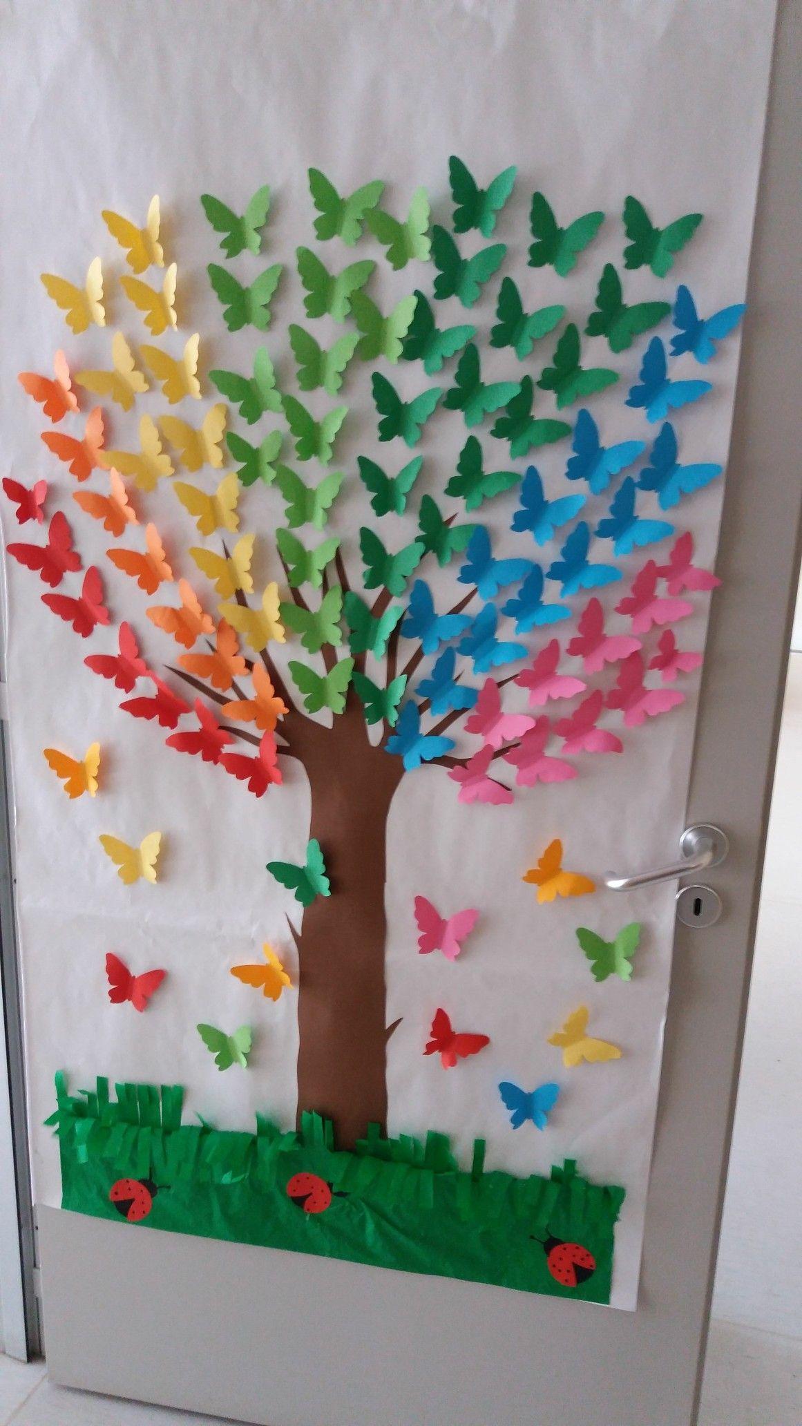 Cartellone farfalle lavoretti calendario scuola dell - Numero di fogli di lavoro per bambini ...
