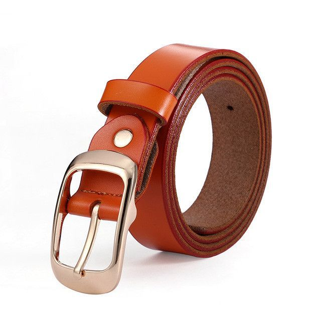 SEFRA Womens Genuine Leather Belts Vintage Casual Thin