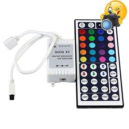Led Light Strips With Remote Minger Ir Remote Controller 44 Keys For 5050 3528 5630 Flexible Rgb