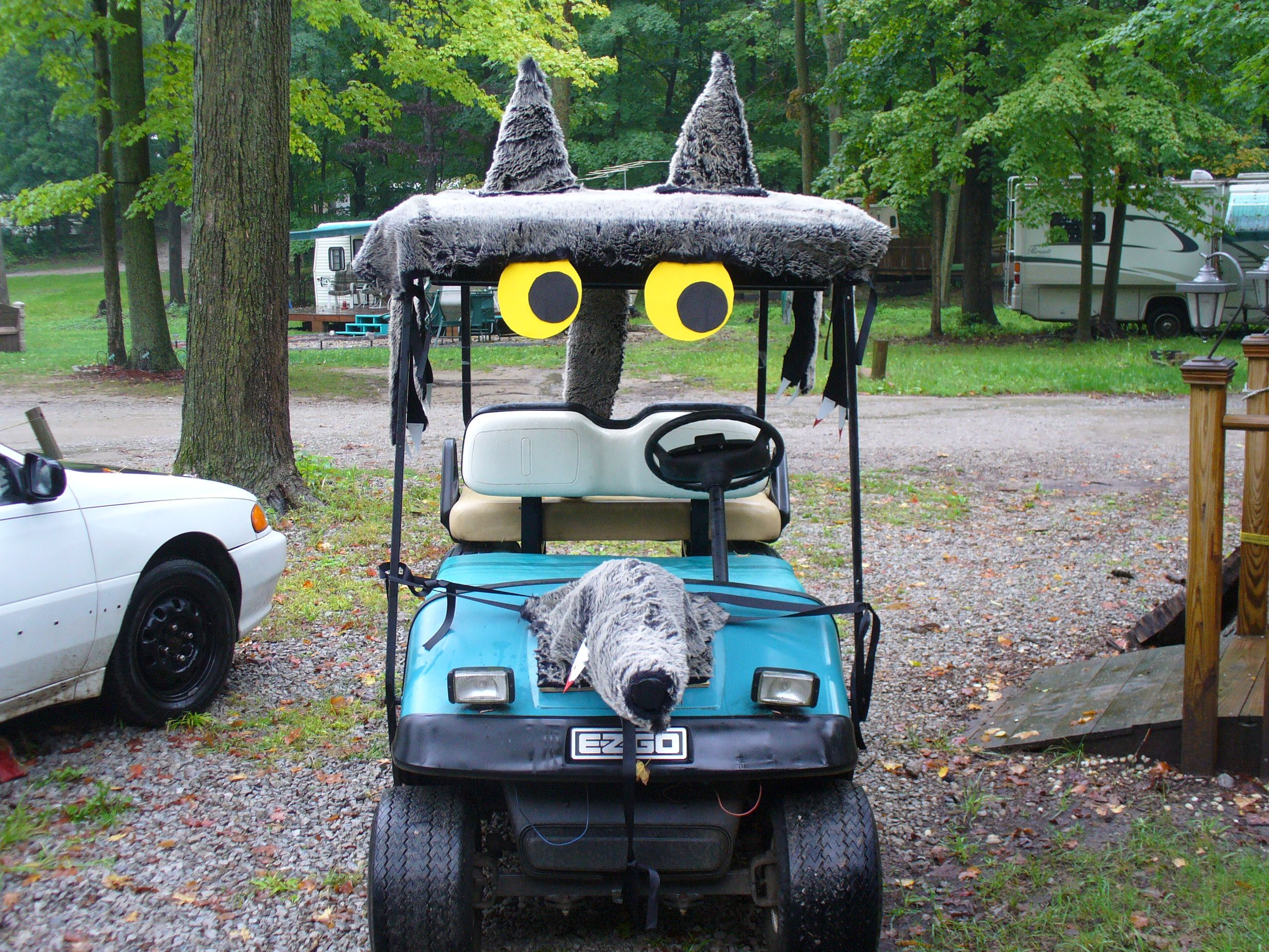 what a fun idea for halloween we hope to see some cool decorated golf carts driving around nocatee this month