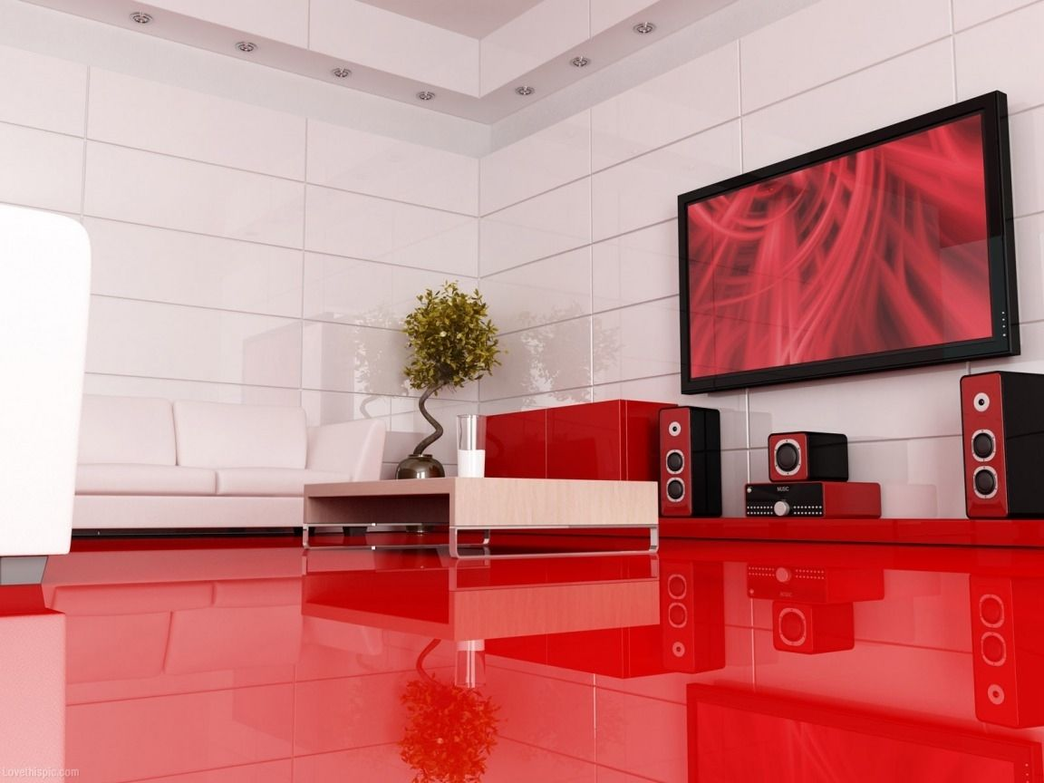 Exciting Red Room Lets Party Floors Pinterest Interior