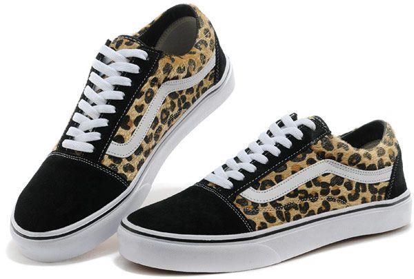vans old skool leopard