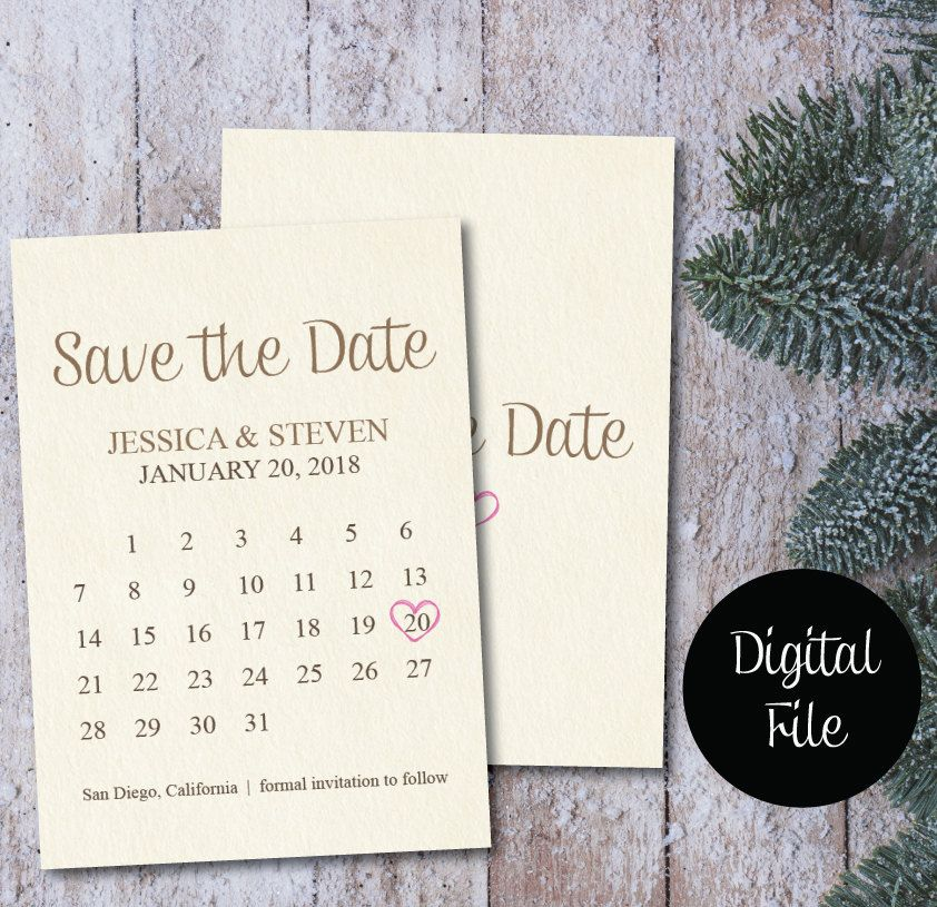 save the date calendar template save the date postcard printable