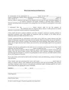 Hair Salon Chemical Service Release Form | products | Pinterest ...