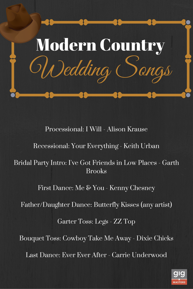 Modern Country Wedding Songs Wedding songs, Country