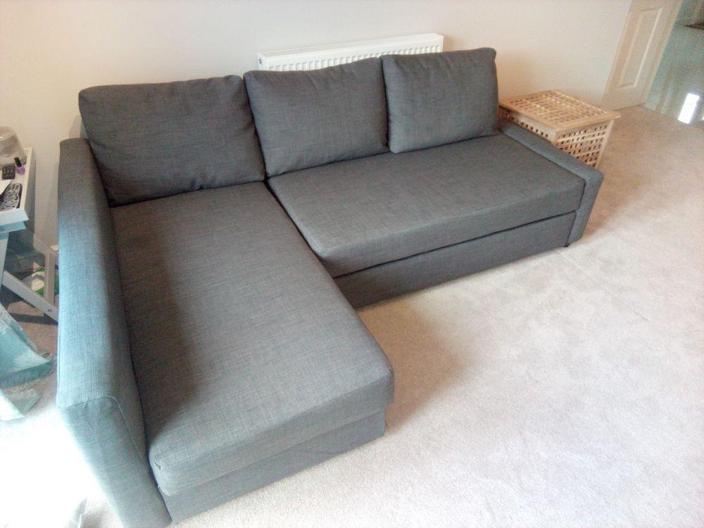 IKEA Friheten Corner Sofa Bed With Storage, Grey Colour