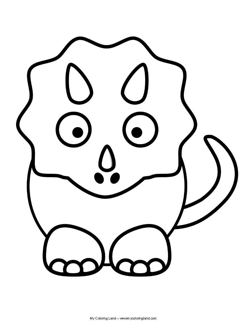 cute dinosaur coloring pages for kids | Pin en Colorings