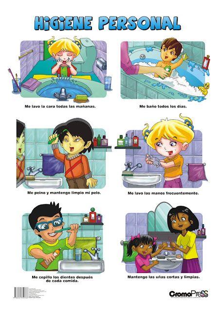 Higiene Personal Imagenes Para Trabajar En Clase Habitos De
