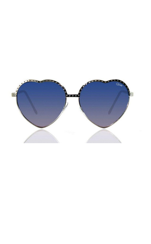 Quay Hearts Sunglasses Silver