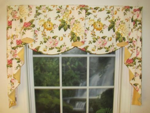 Lily Yellow Regal Valance   curtains   Pinterest