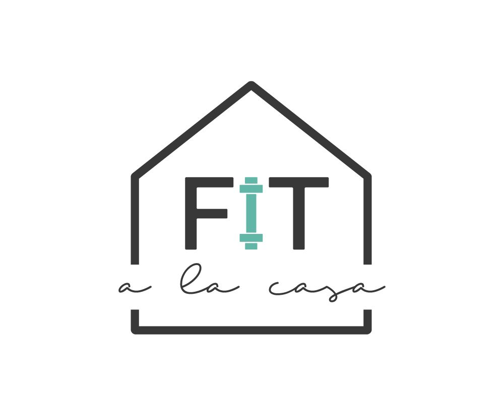 Fitness Logo Design With Barbell Element Fit A La Casa