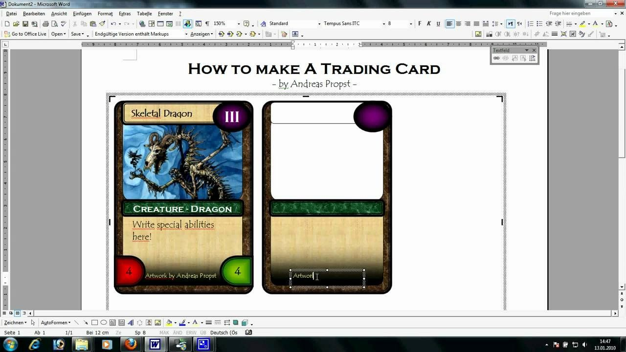 Printable Trading Card Template Unique Trading Card Template Word Trading Card Template Baseball Card Template Card Making Tutorials