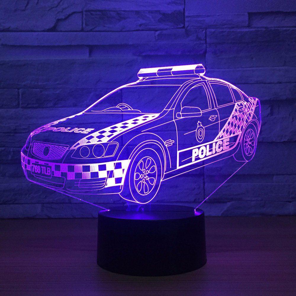 3d Polizei Auto Nachtlicht Lampe Optische Nacht Licht Illusion 7 Farbwechsel Touch Switch Tisch Schreibtisch Dekorat Nachtlicht Farbwechsel Geschenke Fur Jungs