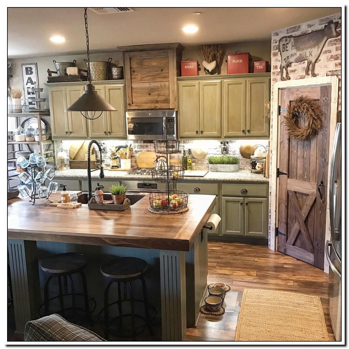 96 Reference Of Rustic Farmhouse Decor Above Kitchen Cabinets In 2020 Kitchen Decor Home Decor Kitchen Farmhouse Kitchen Decor