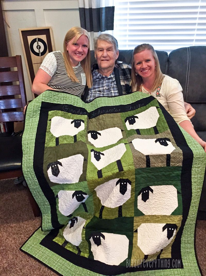 Grandpas Sheep Quilt Bits Of Everything Quilting Pinterest