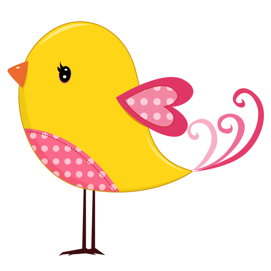 Pink and Yellow Birds - Birds09.png - Minus | clipart 2 ...