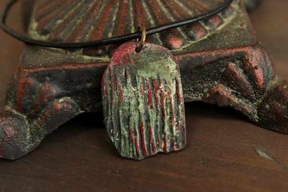 Abstract  Necklace w/ Pendant Primitive by EtinifniCreations, $15.00 #handmade #jewelry #artisan