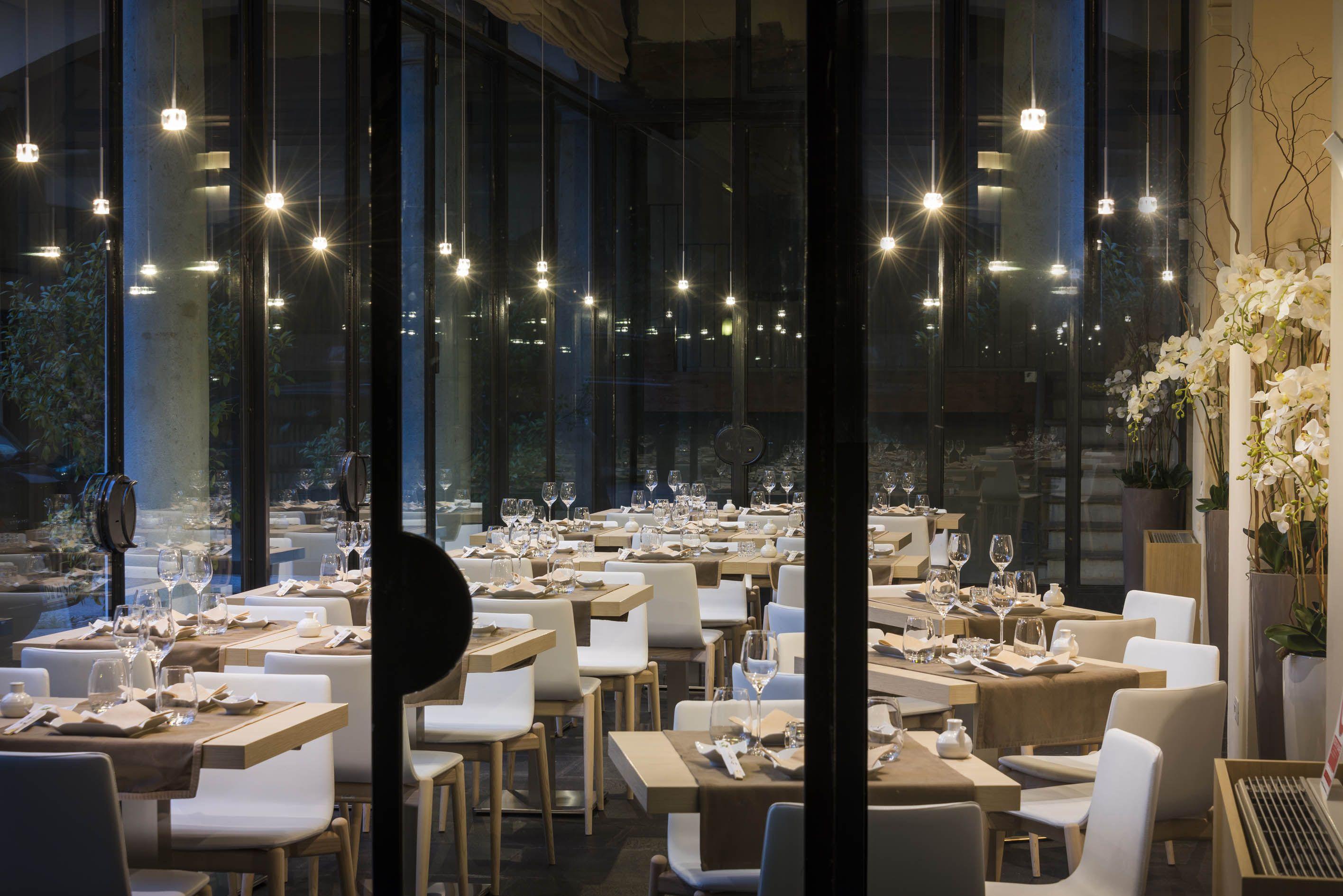 o yan japanese restaurant in o with stellina led lighting