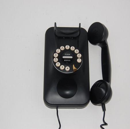 Pottery Barn Grand Wall Phone Black Cord Telephone Wall Phone Phone Telephone,Anime Black And White Wallpaper Phone