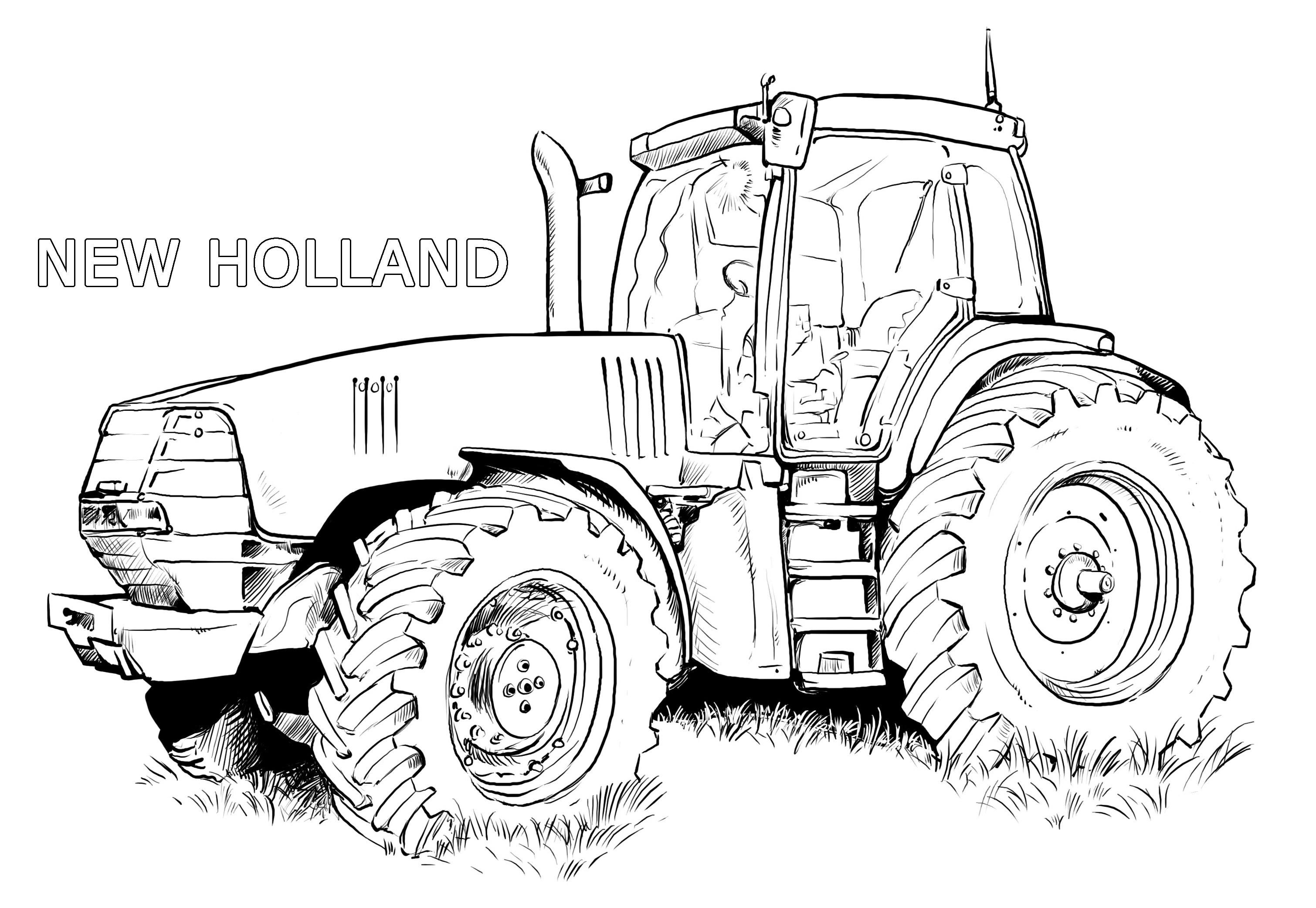 Ausmalbilder Traktor New Holland | Ideen in 2019 | Pinterest