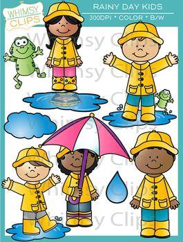Rainy Day Kids Clip Art Kids Clipart Clip Art Spring Art Projects