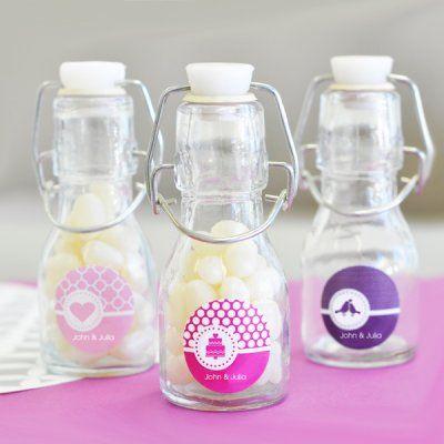 Mini Glass Bottles - wedding favors