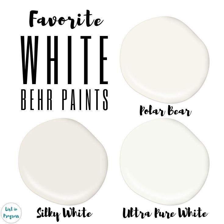 Favorite Behr White Paint Colors