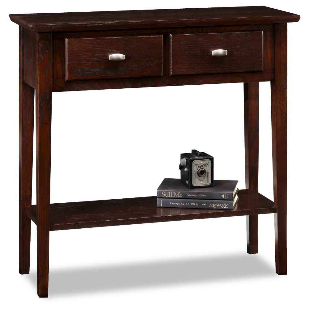 At Only 10 Deep The Chocolate Hall Console Table Dares To Boldly Go Where No Furniture Has Gone Before F Oak Console Table Hall Console Table Sofa End Tables