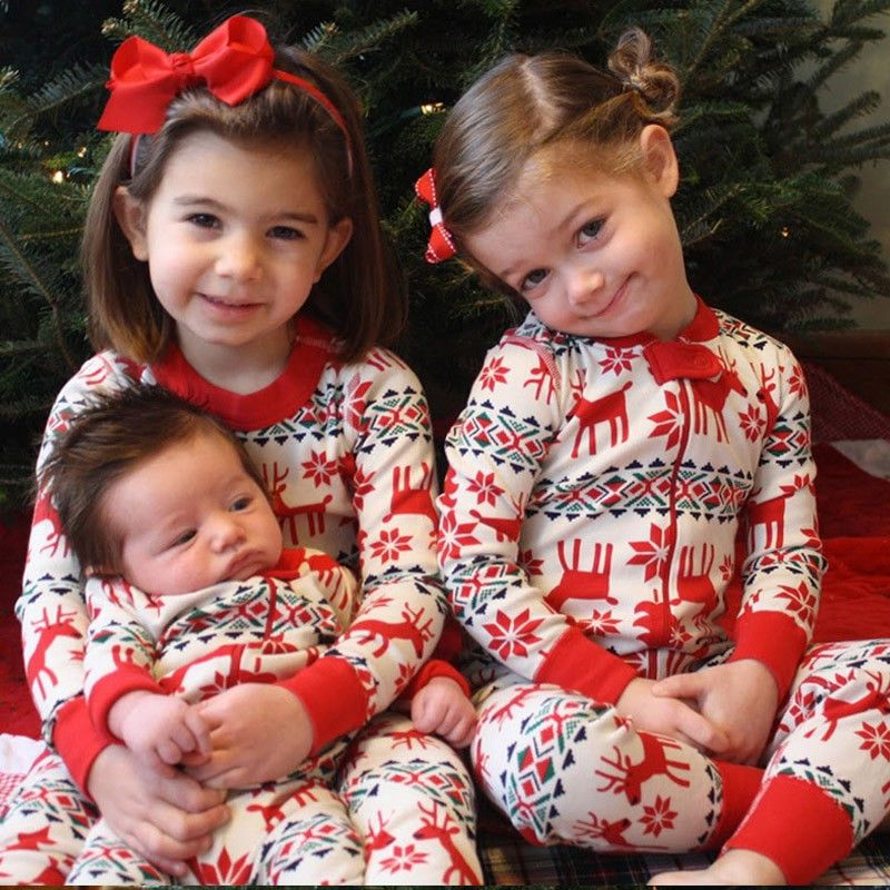 Family Christmas Pajama Family Matching Clothes Matching Mother