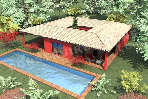 divu003eu003cbu003eMaison moderne avec un patio de plain pied de type 5 u003c b - plan de maisons modernes
