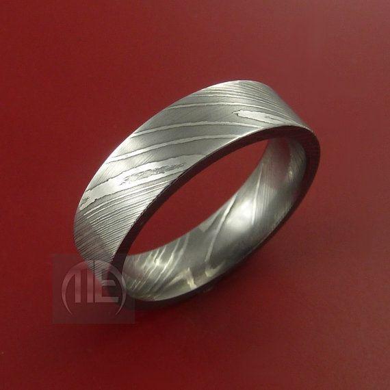 Damascus Steel Ring Wedding Band Genuine by StonebrookJewelry, $248.92