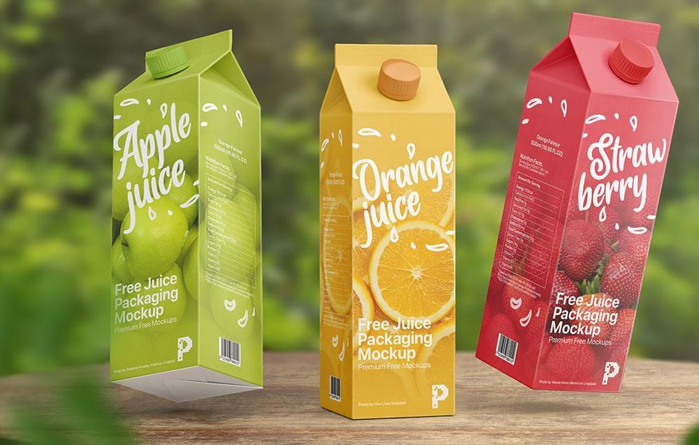 Free Juice Carton Box Packaging Mockup Free Package Mockups Packaging Mockup Juice Carton Free Packaging Mockup