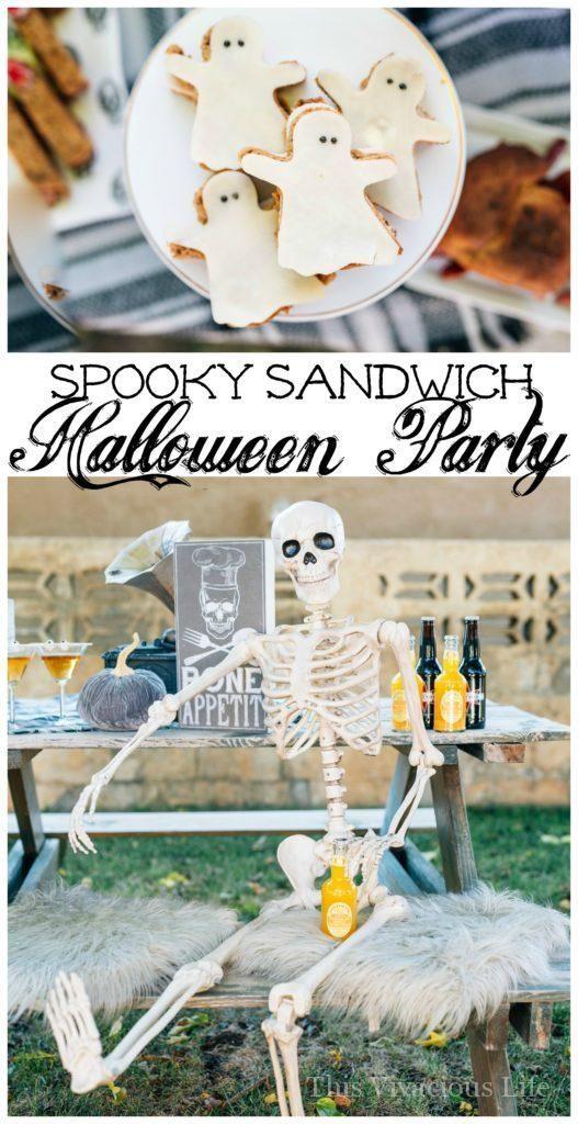 This spooky sandwich bar Halloween party is such a fun one - fun halloween ideas